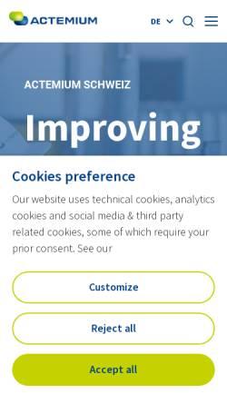 Vorschau der mobilen Webseite www.leittec.ch, LeitTec AG