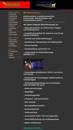 Vorschau der mobilen Webseite www.moldenhauer-altena.de, Moldenhauer e.K.