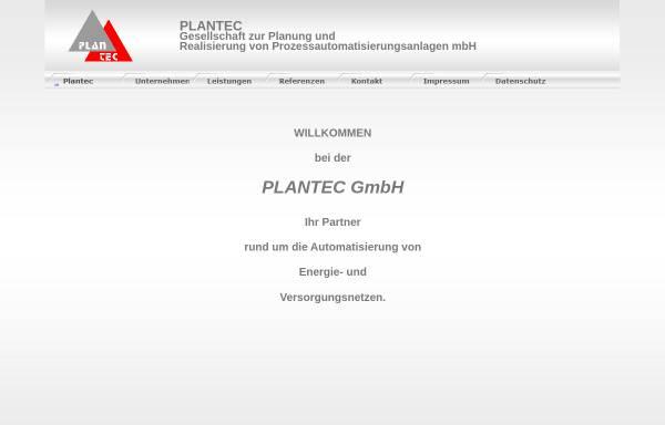 Vorschau von www.plantec-gmbh.de, Plantec Gesellschaft zur Planung und Realisierung von Prozeßautomatiserungsanlagen mbH