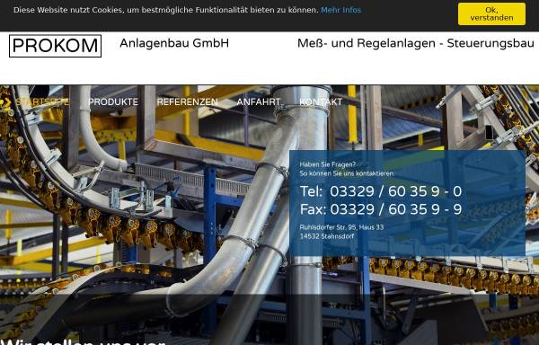 Vorschau von www.prokom-anlagenbau.de, Prokom Anlagenbau GmbH