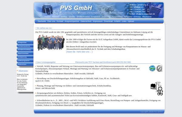 Vorschau von www.pvs-espenhain.de, Pumpenreparatur, Vertrieb und komplexe Anlagen Service GmbH