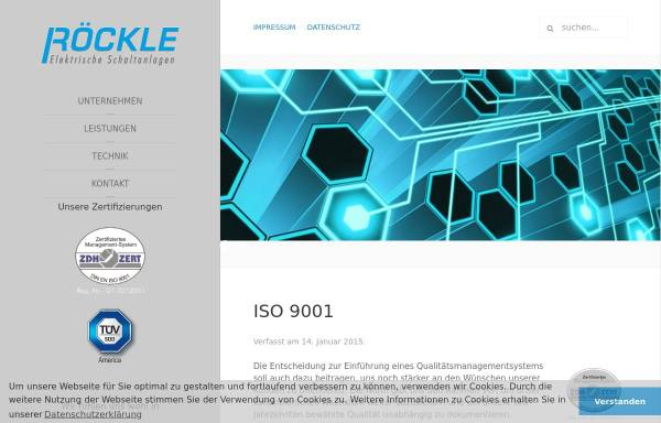 Vorschau von www.roeckle-schaltanlagen.de, Röckle GmbH & Co. KG