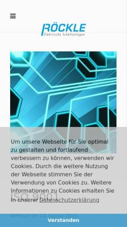 Vorschau der mobilen Webseite www.roeckle-schaltanlagen.de, Röckle GmbH & Co. KG