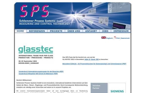 Vorschau von www.sps-gmbh.de, Schlemmer Prozess Systeme GmbH