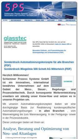 Vorschau der mobilen Webseite www.sps-gmbh.de, Schlemmer Prozess Systeme GmbH