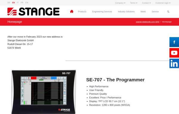 Vorschau von www.stange-elektronik.com, Stange Elektronik GmbH