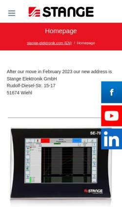 Vorschau der mobilen Webseite www.stange-elektronik.com, Stange Elektronik GmbH