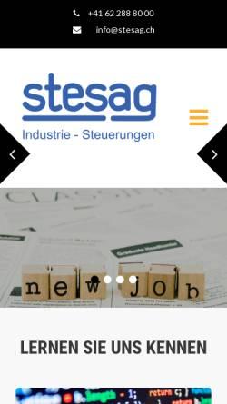 Vorschau der mobilen Webseite www.stesag.ch, Stesag