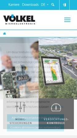 Vorschau der mobilen Webseite www.voelkel.de, Völkel Mikroelektronik GmbH