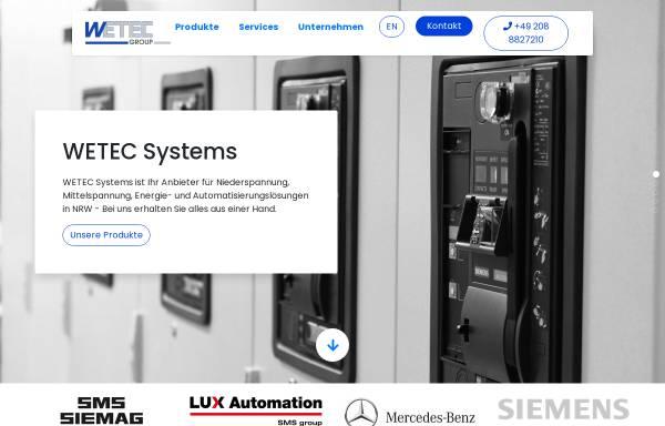 Vorschau von www.wetec.eu, WETEC Elektrotechnik GmbH / WETEC Systemtechnik GmbH