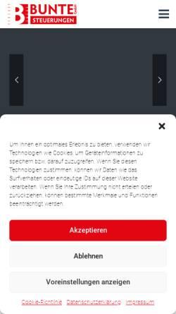 Vorschau der mobilen Webseite www.w-bunte.de, Wolfgang Bunte