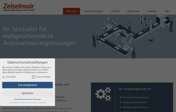 Vorschau von www.zat-gmbh.de, Zeiselmair Automatisierungstechnik GmbH