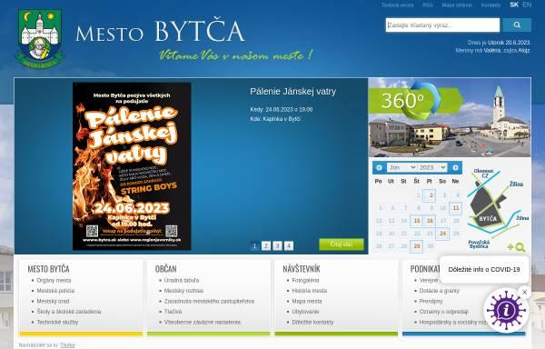 Vorschau von www.bytca.sk, Bytča