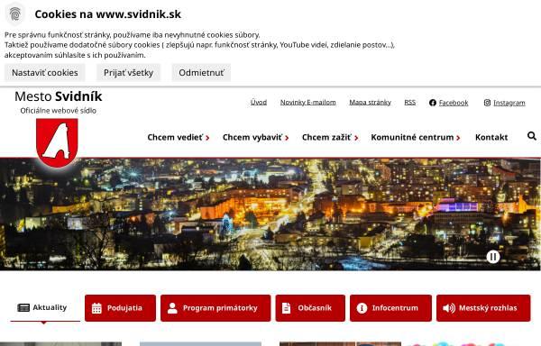 Vorschau von www.svidnik.sk, Svidnik