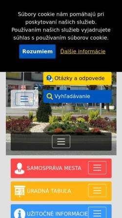 Vorschau der mobilen Webseite www.vranov.sk, Vranov nad Toplou