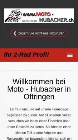 Vorschau der mobilen Webseite www.moto-hubacher.ch, Honda Hubacher Velos Motos AG