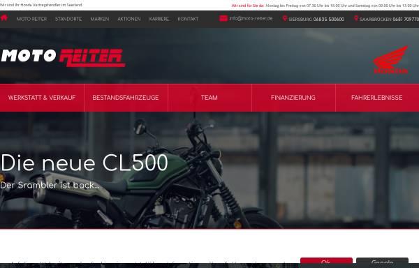 Vorschau von www.moto-reiter.de, Partner für Honda-Motorräder im Saarland.