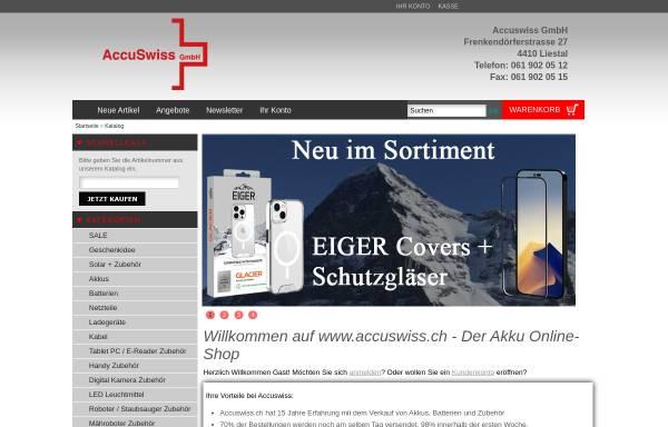 Vorschau von www.accuswiss.ch, AccuSwiss, R. Reichen