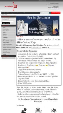 Vorschau der mobilen Webseite www.accuswiss.ch, AccuSwiss, R. Reichen