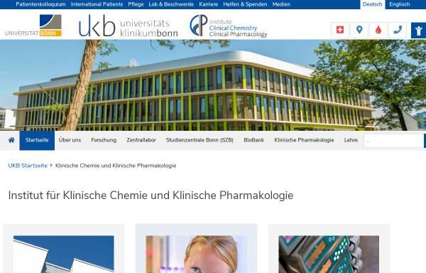 Vorschau von www.meb.uni-bonn.de, Bonn - Abteilung für Klinische Pharmakologie