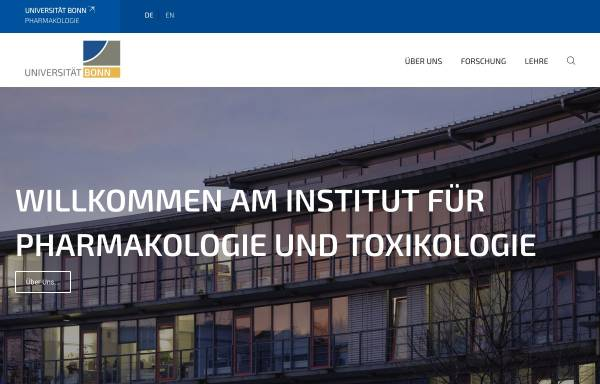 Vorschau von www.pharmakologie.uni-bonn.de, Bonn - Institut für Pharmakologie und Toxikologie