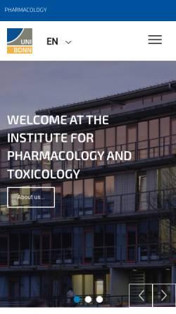 Vorschau der mobilen Webseite www.pharmakologie.uni-bonn.de, Bonn - Institut für Pharmakologie und Toxikologie