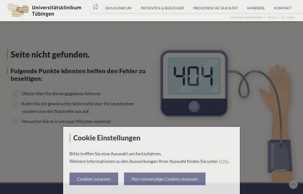Vorschau von www.medizin.uni-tuebingen.de, Tübingen - Abteilung Klinische Pharmakologie am Universitätsklinikum