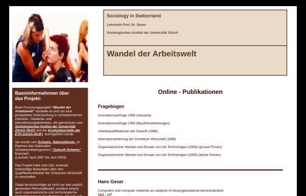 Vorschau von socio.ch, Forschungsprojekt