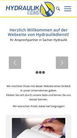 Vorschau der mobilen Webseite www.hydraulikdienst.at, Hydraulikdienst Ges.m.b.H.