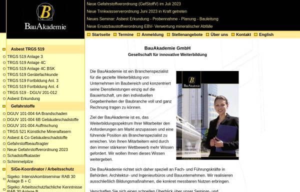 Vorschau von www.bau-akademie.de, BauAkademie GmbH