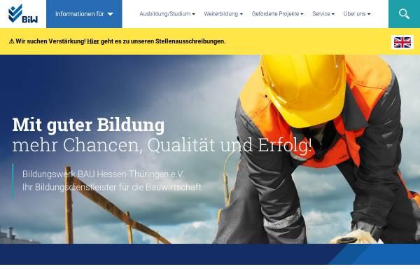 Vorschau von www.bfw-th.de, Berufsförderungswerk Bau Thüringen e.V.