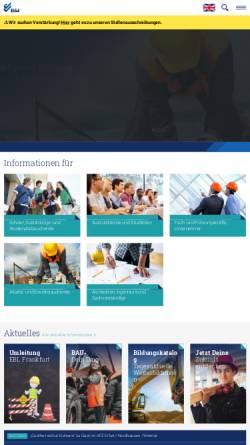 Vorschau der mobilen Webseite www.bfw-th.de, Berufsförderungswerk Bau Thüringen e.V.