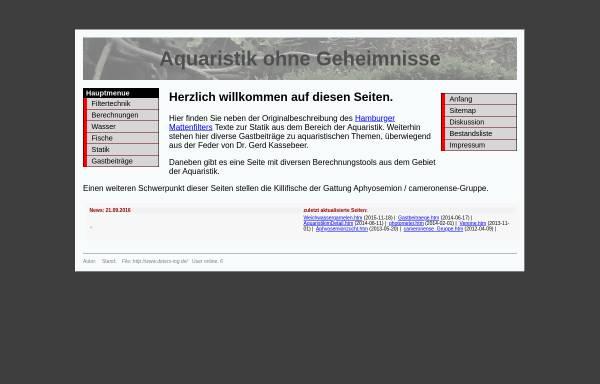 Vorschau von www.deters-ing.de, Aquaristik ohne Geheimnisse