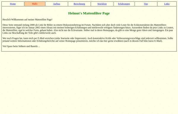 Vorschau von www.helmut-wick.de, Hamburger Mattenfilter über Eck