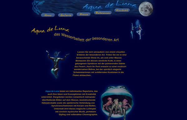 Vorschau von aquadeluna.de, Aqua de Luna