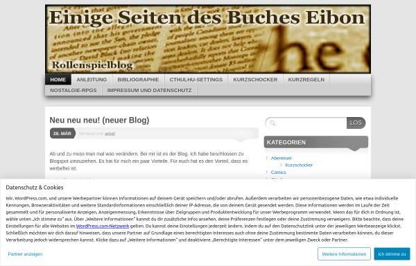 Vorschau von bucheibon.wordpress.com, Einige Seiten des Buches Eibon