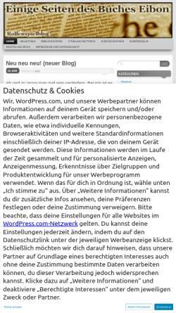 Vorschau der mobilen Webseite bucheibon.wordpress.com, Einige Seiten des Buches Eibon