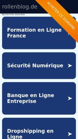 Vorschau der mobilen Webseite www.rollenblog.de, Rollenblog
