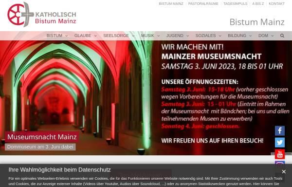 Vorschau von www.bistummainz.de, Bistum Mainz