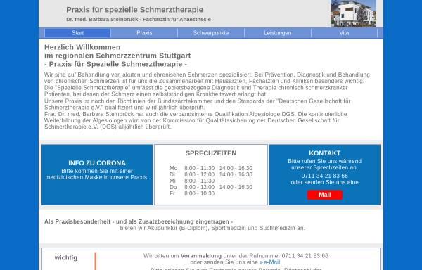 Vorschau von www.schmerzzentrum-stuttgart.de, Dr. med. Barbara Steinbrück