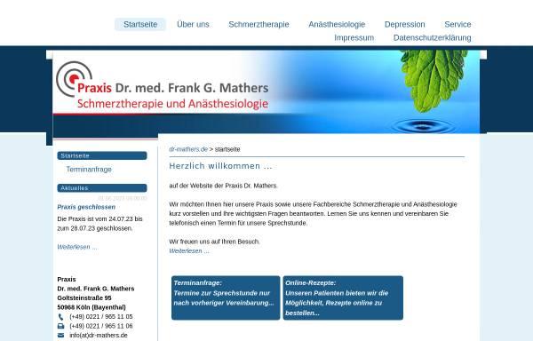 Vorschau von www.dr-mathers.de, Dr. med. Frank G. Mathers