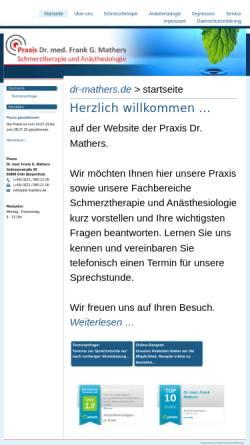 Vorschau der mobilen Webseite www.dr-mathers.de, Dr. med. Frank G. Mathers