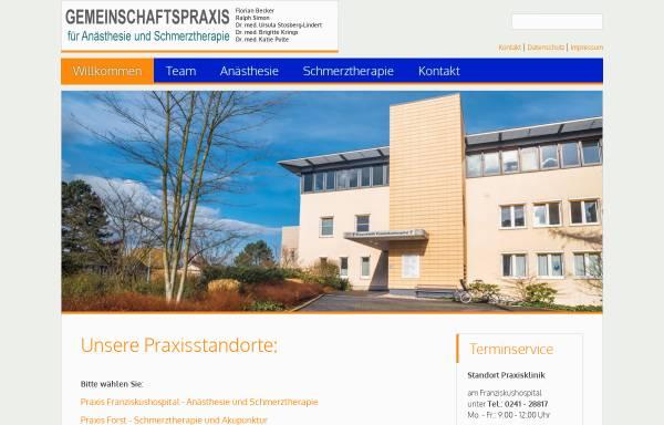 Vorschau von www.schmerzkreis.net, Gemeinschaftspraxis für Anästhesie und Schmerztherapie
