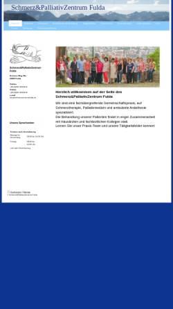 Vorschau der mobilen Webseite www.schmerzzentrumfulda.de, Schmerzzentrum Fulda