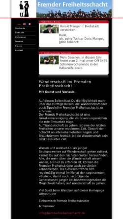 Vorschau der mobilen Webseite www.fremderfreiheitsschacht.de, Fremder Freiheitsschacht