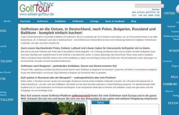 Vorschau von www.ostsee-golftour.de, Ostsee Golftours