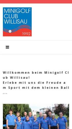 Vorschau der mobilen Webseite www.mc-willisau.ch, Minigolf Club Willisau