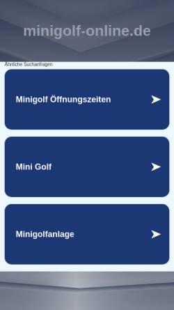 Vorschau der mobilen Webseite www.minigolf-online.de, Minigolf Fredenbaumpark