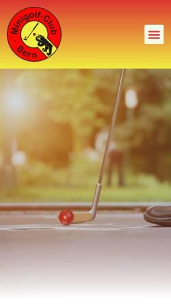 Vorschau der mobilen Webseite www.mcbern.ch, Minigolf-Club Bern