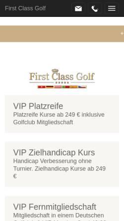 Vorschau der mobilen Webseite www.first-class-golf.com, First Class Golf
